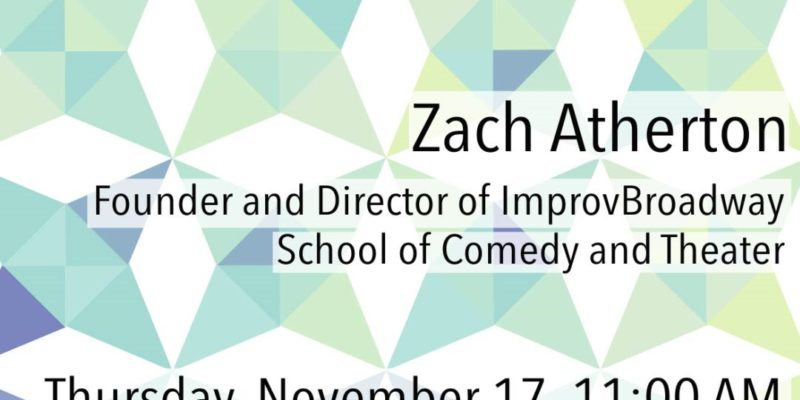 CID Lecture: Improv as an Imperative for Creativity